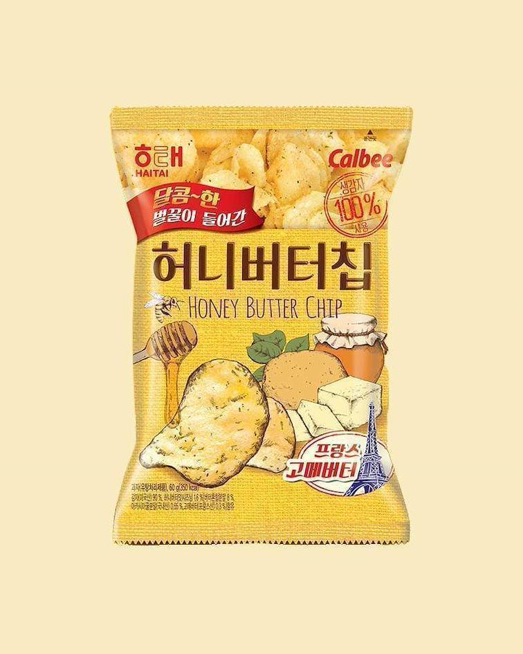Honey Butter Chips (Чипсы с маслом и с медом) купить на ZenMarket