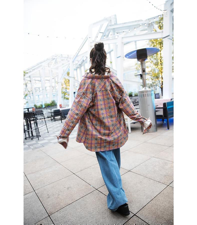 Aimi in check shirt