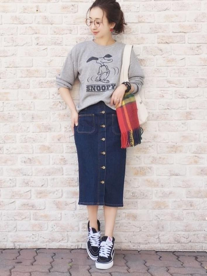 Sweats and slim skirt