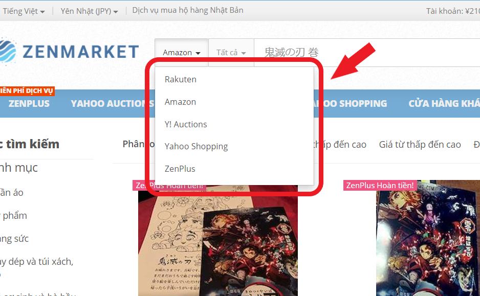 ZenMarket - Tìm Manga trong Cửa hàng Hoa hồng của Nhật Bản
